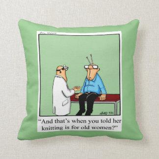 Knitting Humor Pillow Gift