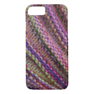 Knitting in Sunset Colours iPhone 7 Case