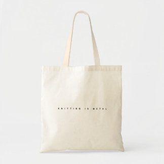 Knitting is Metal Clean Logo Tote