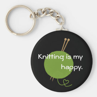 Knitting is My Happy Keychain