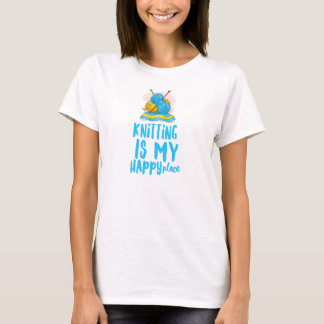Knitting is my Happy Place Women's Basic T-Shirt