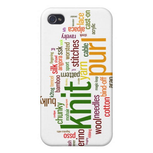 Knitting Lexicon - words for knitters! Knit On! iPhone 4 Covers