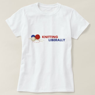 Knitting Liberally Fitted T-Shirt #1