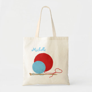 Knitting Love Personalized Tote Bag