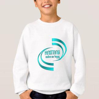 Knitting Makes Me Happy Sweatshirt