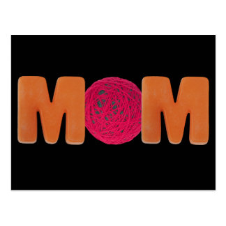 Knitting Mom Postcard