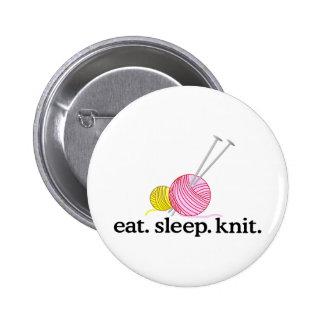 Knitting Needles & Yarn 2 Inch Round Button
