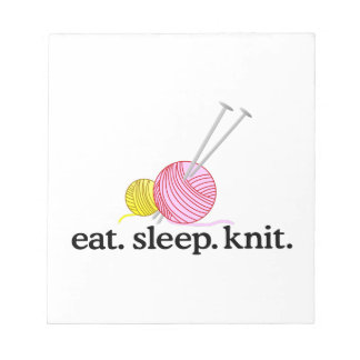 Knitting Needles & Yarn Notepad
