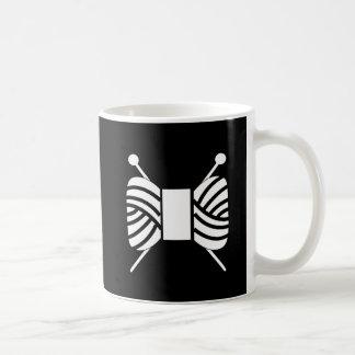 Knitting Needles Yarn Skein Crafts Classic White Coffee Mug