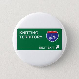 Knitting Next Exit 2 Inch Round Button