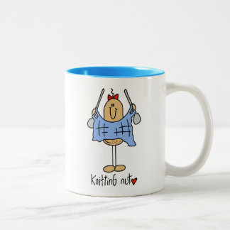 Knitting Nut T-shirts and Gifts Two-Tone Coffee Mug