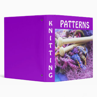 Knitting patterns 3 ring binder