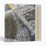 Knitting Patterns Binder 3 Ring Binders