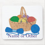 Knitting Personalized Mouse Pad