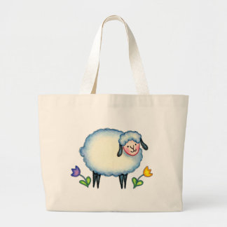 KNITTING SHEEP BAG by SHARON SHARPE