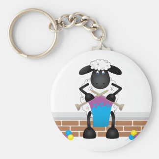 Knitting Sheep For Ewe Keychain