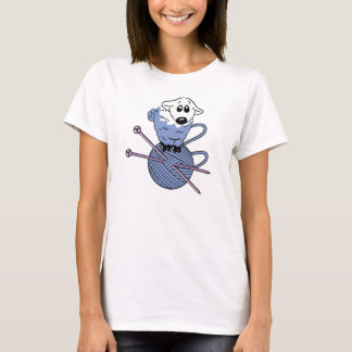 Knitting, Sheep, Yarn, Wool, Women's Basic T-Shirt