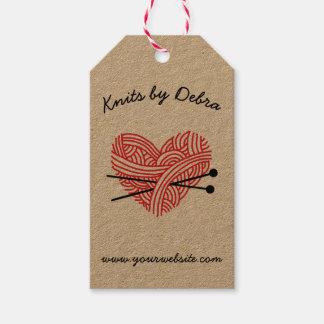 Knitting Shop • Yarn / Fiber Artist Handmade Pack Of Gift Tags