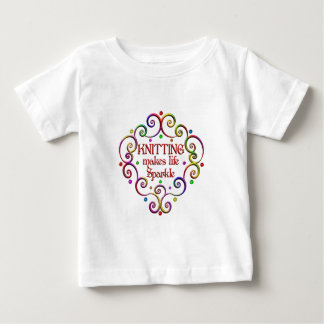 Knitting Sparkles Baby T-Shirt