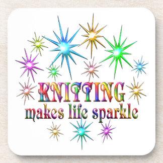 Knitting Sparkles Coaster