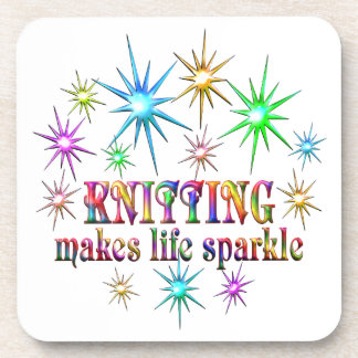 Knitting Sparkles Coasters