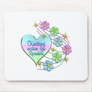 Knitting Sparkles Mouse Pad