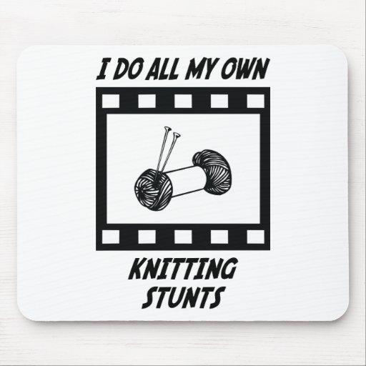 Knitting Stunts Mouse Mats