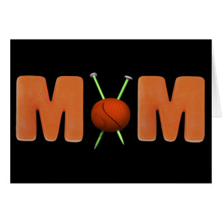 Knitting T-shirts and Gifts For Mom Greeting Card