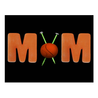 Knitting T-shirts and Gifts For Mom Postcard