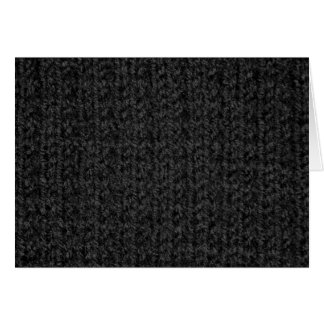 Knitting Texture of Black-Colored Yarn Card