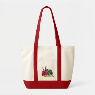 Knitting Tote Bag