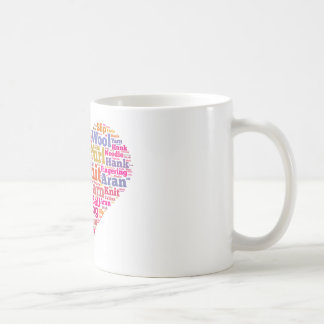 Knitting Word Cloud Coffee Mug