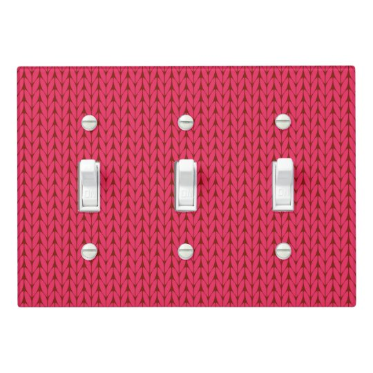 Knitting Yarn Image Light Switch Cover