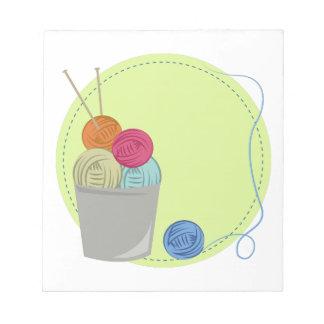 Knitting Yarn Notepad
