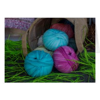 Knitting yarns card