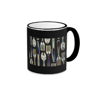 Knives, Forks and Spoons Ringer Coffee Mug