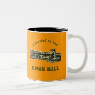 Knob Hill Mug- Avocado on Burnt Orange Two-Tone Coffee Mug