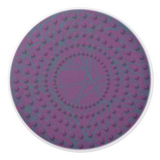 Knob purple design in raised dot circular pattern