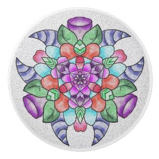 Knob with a design ceramic knob