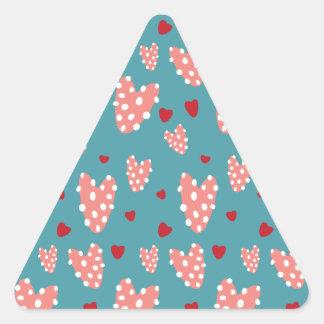 Knobby Heart Pattern Triangle Sticker