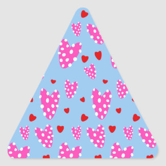Knobby Heart Pattern Triangle Sticker