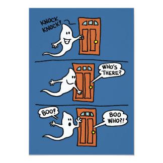 Knock Knock Ghost Halloween Joke Kid Party Invite