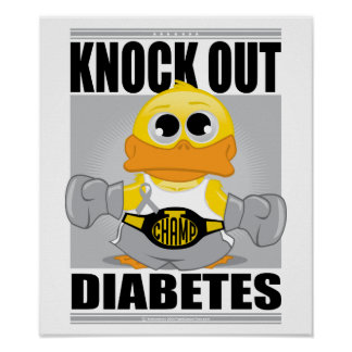 Knock Out Diabetes Poster