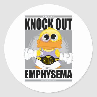 Knock Out Emphysema Classic Round Sticker