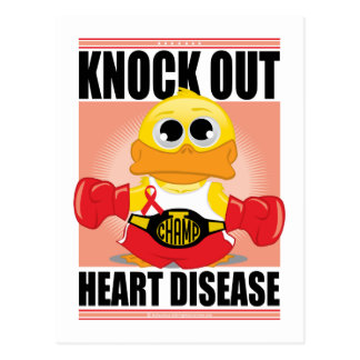 Knock Out Heart Disease Postcard