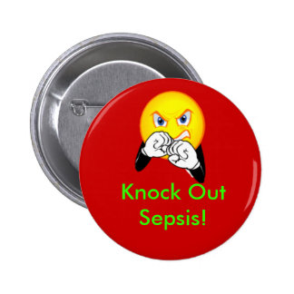 Knock Out Sepsis 2 Inch Round Button
