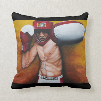 Knockout Boxing Painting American MoJo Pillow