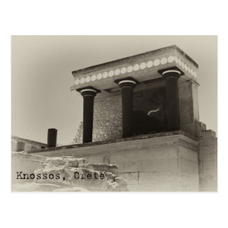 Knossos North Entrance Black and White Postcard