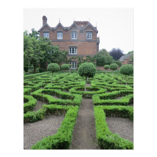 Knot Garden at Old Moseley Hall Customized Letterhead