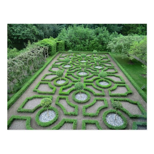 Knot Garden in the Grounds of Old Moseley Hall Postcard